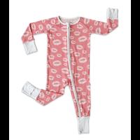 Little Sleepies Pink Kisses Zippy Bamboo Pajama Set