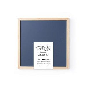 The Type Set Co. 15x15 Magnetic Letter Board Slate - Navy Chalkboard