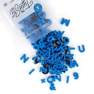 "The Type Set Co. Soft Magnetic Letter Set - Blue Plate - 200 Pieces (1"")"