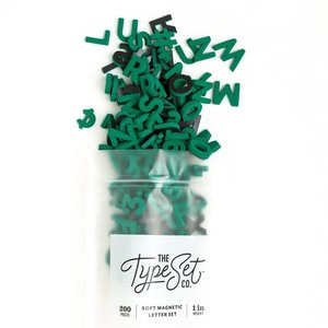 "The Type Set Co. Soft Magnetic Letter Set - Emerald City - 200 Pieces (1"")"
