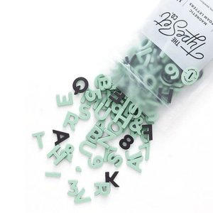 "The Type Set Co. Soft Magnetic Letter Set - Indy Green - 200 Pieces (1"")"