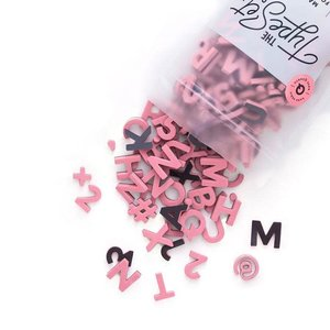 "The Type Set Co. Soft Magnetic Letter Set - Rose Quartz - 200 Pieces (1"")"