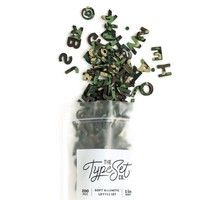"The Type Set Co. Soft Magnetic Letter Set - Camo Confetti - 200 Pieces (1"")"