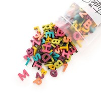 """The Type Set Co. Soft Magnetic Letter Set - Rainbow Pop - 200 Pieces (1"""")"""
