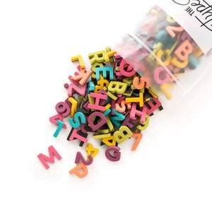 "The Type Set Co. Soft Magnetic Letter Set - Rainbow Pop - 200 Pieces (1"")"