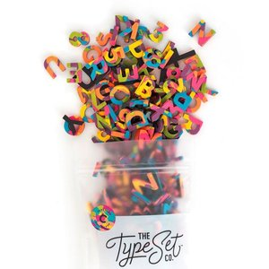 "The Type Set Co. Soft Magnetic Letter Set - Confetti Pop- 200 Pieces (1"")"