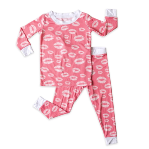 Little Sleepies Pink Kisses Two-Piece Bamboo Pajama Set