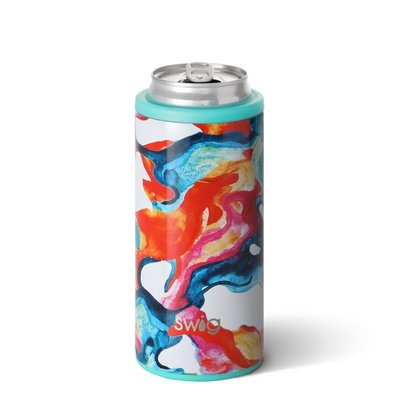 Swig 12 oz Skinny Can Cooler - Color Swirl