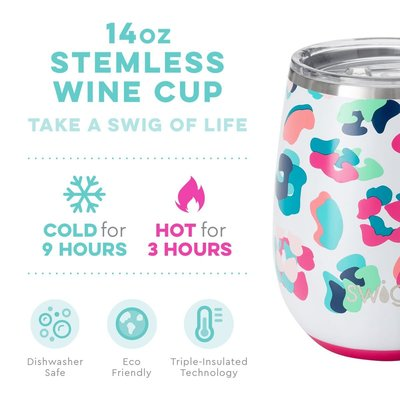 Swig 14 oz Stemless Wine Cup - Party Animal