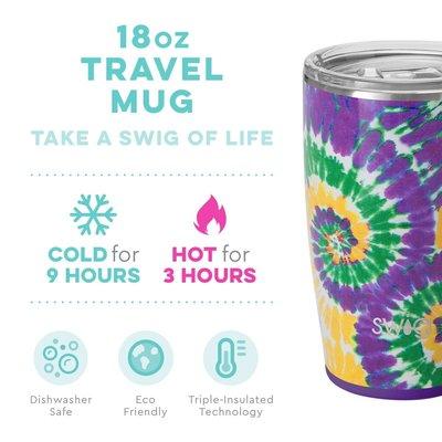 Swig 18 oz Mug - Mardi Gras Tie Dye