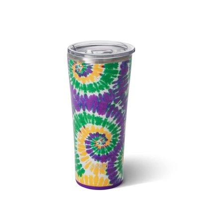 Swig 22 oz Tumbler - Mardi Gras Tie Dye
