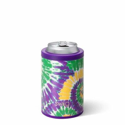 Swig 12 oz Combo Cooler - Mardi Gras Tie Dye