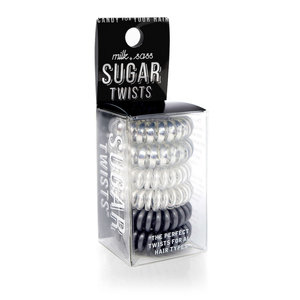 Milk+Sass SUGAR TWISTS Coil Hair Ties Silver Candy