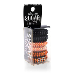 Milk+Sass SUGAR TWISTS Coil Hair Ties Rose Gold & Licorice