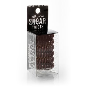Milk+Sass SUGAR TWISTS Coil Hair Ties Chocolate