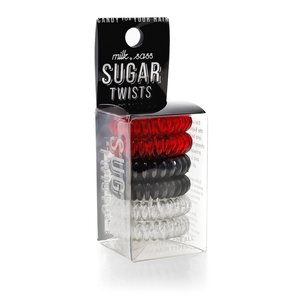 Milk+Sass SUGAR TWISTS Coil Hair Ties Red Licorice