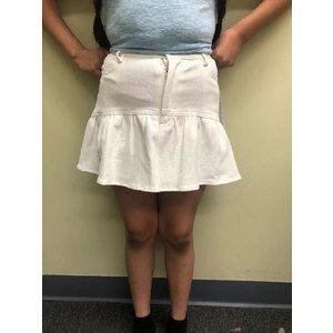 Sadie & Sage Denim Ruffle Skirt - Cream