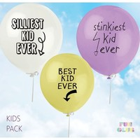 Fun Club Best Kid Ever - Assorted Kids Balloon Pack
