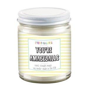 Fun Club You're Amazeballs - Straight Magic Scented Candle