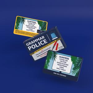Bubblegum Stuff Grammar Police - The Grammar Guessing Card Game