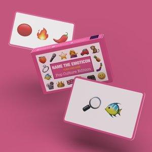 Bubblegum Stuff Name The Emoticon - Pop Culture Edition (Flash Card Game)