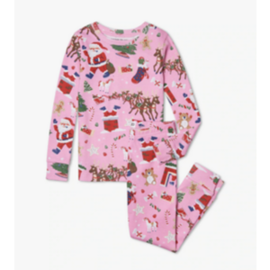 Hatley Twas the Night Before Christmas  - Long Sleeve Pajama (Prism Pink)