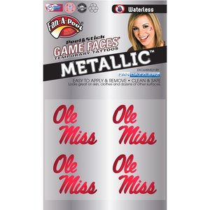 Fanapeel University of Mississippi - Metallic Peel & Stick Skin Tattoo