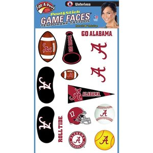 Fanapeel University of Alabama - Assortment Peel & Stick Skin Tattoo