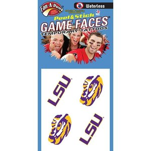 Fanapeel Louisiana State University - Assortment Peel & Stick Skin Tattoo