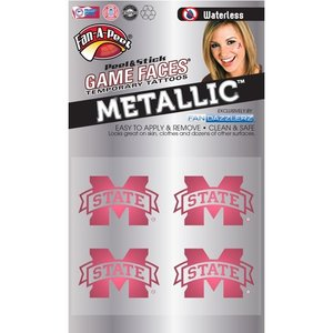 Fanapeel Mississippi State University - Metallic Peel & Stick Skin Tattoo