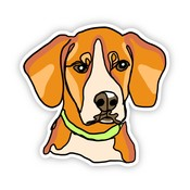 Big Moods Beagle Dog Sticker
