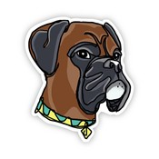 Big Moods Boxer Dog Sticker