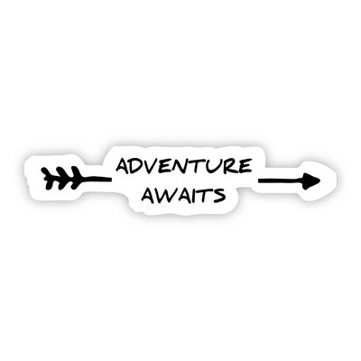 Big Moods Adventure Awaits Arrow Sticker
