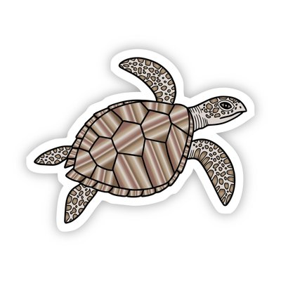 Big Moods Brown Turtle Aesthetic Sticker
