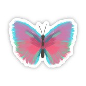 Big Moods Butterfly Multicolor Painting Sticker