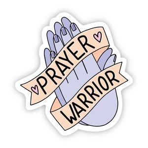 Big Moods Prayer Warrior Sticker
