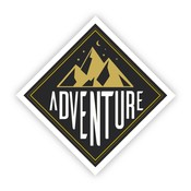 Big Moods Adventure Mountains Vinyl Sticker