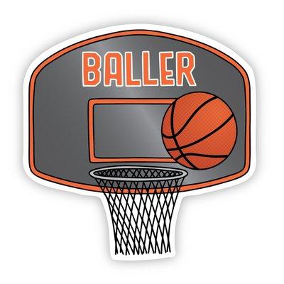 Big Moods Baller Basketball Sports Sticker