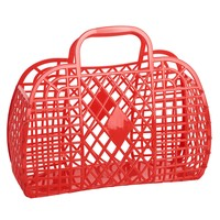 Sun Jellies Retro Basket Large - Red