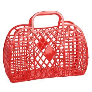 Sun Jellies Retro Basket Large - Red