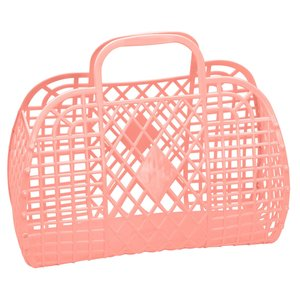 Sun Jellies Retro Basket Large - Peach