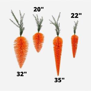 """Glitterville Orange Hanging Carrot - 32"""""""