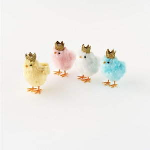 """Glitterville Chick with Gold Crown (4"""")"""