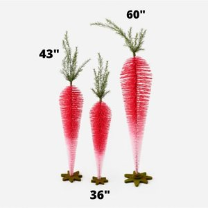 Glitterville Standing Carrots (Set of 3) - Pink Ombre