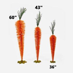 Glitterville Standing Carrots (Set of 3) - Orange