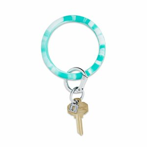 Oventure Marble Collection - Silicone Big O® Key Ring In The Pool Marble