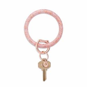 Oventure Confetti Collection - Silicone Big O® Key Ring Rose Gold Confetti