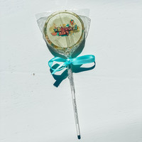 Sweet Caroline Confections Whimsical Alley Logo Lollipop - Cotton Candy