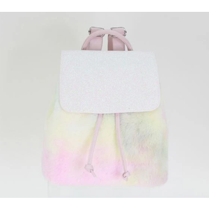 American Jewel Cotton Candy Fur Everyday Backpack