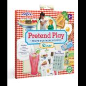 eeBoo Best Pals' Diner Pretend Play Props Kit